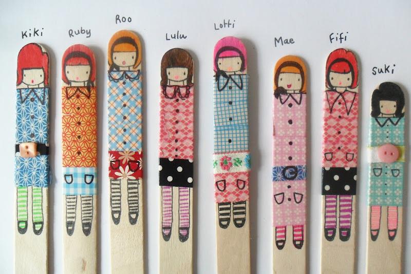 Basteln Mit Holz Kindergeburtstag ~ Holz Püppchen Diese Idee Finde Ich Ganz  Besonders Süß Für
