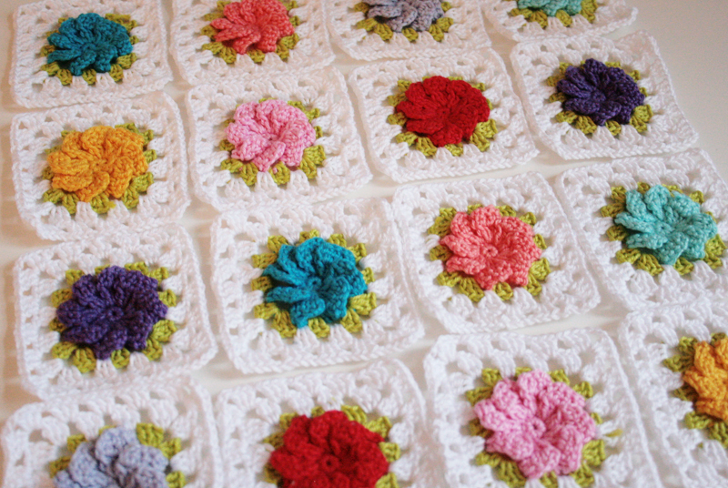 Granny Square Liebe A Red Apple